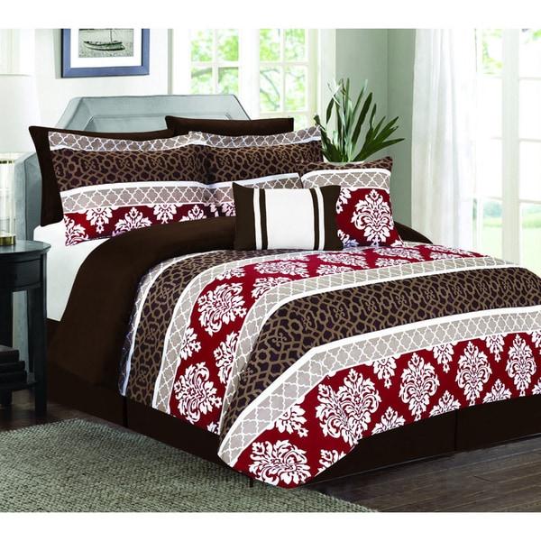 Riverside Red 7-piece Comforter Set