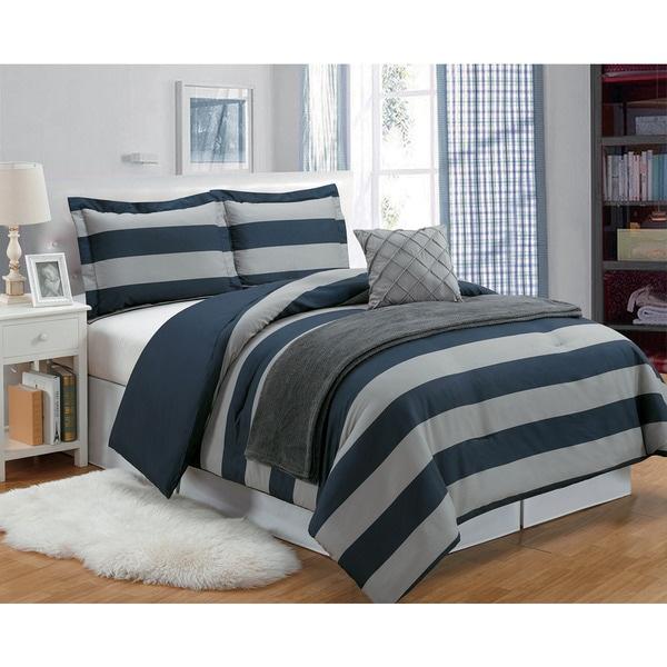 Sweatshirt Stripe 5-piece Comforter Set