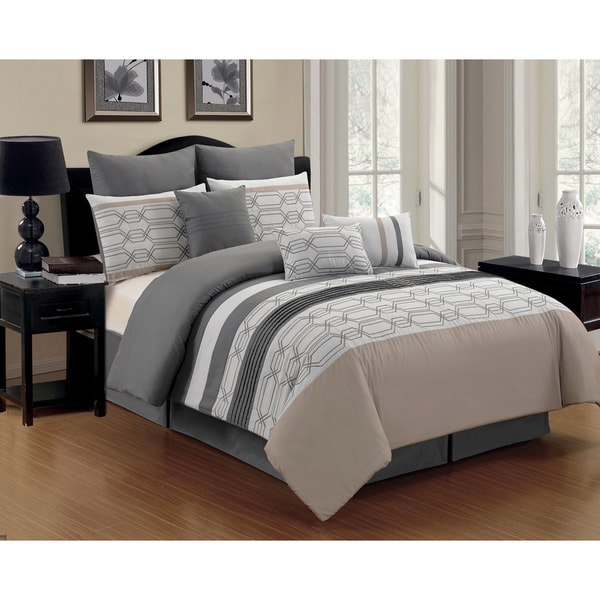 Hexagonal 8-piece Comforter Set