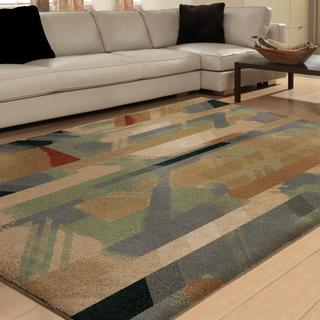 Carolina Weavers Vivacious Collection Antic Multi Area Rug (5'3 x 7'6)