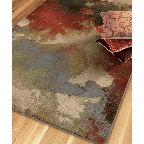 Carolina Weavers Brilliance Collection Rapids Multi Area Rug (5'3 x 7'6)