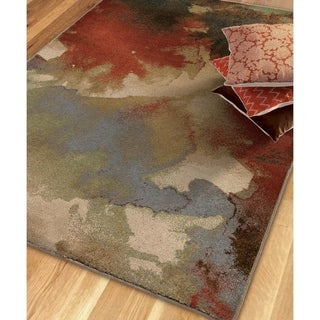 Vivacious Collection Blotch Multi Area Rug (5'3 x 7'6)
