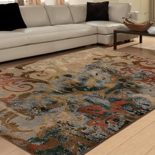 Carolina Weavers Brilliance Collection Papyrus Multi Area Rug (5'3 x 7'6)