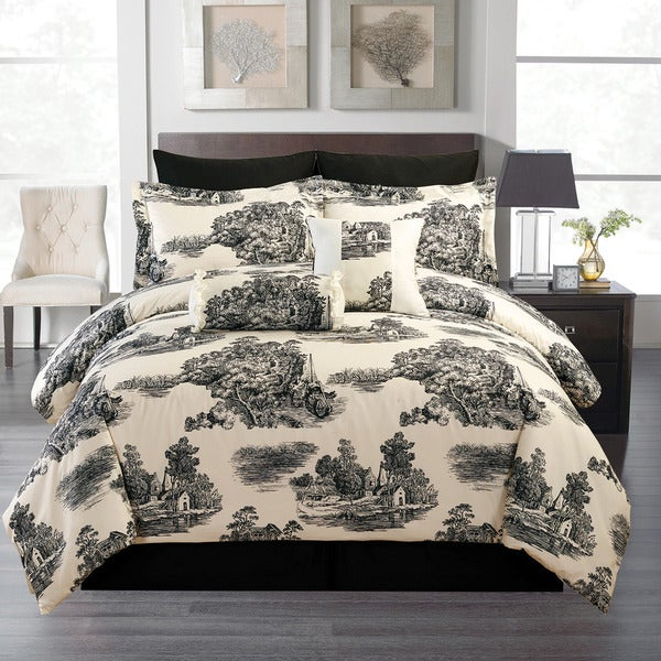 French Toile 8-piece Comforter Set