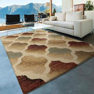 Carolina Weavers Dignified Shag Collection Rainbow Colony Multi Shag Area Rug (7'10 x 10'10)