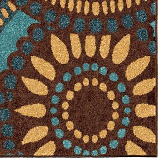 Carolina Weavers Cocamo Collection Color Spectrum Green Area Rug (7'8 x 10'10)