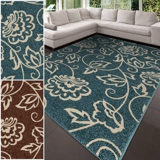 Carolina Weavers Aria Collection Floral Envy Area Rug (7'8 x 10'10)|https://ak1.ostkcdn.com/images/products/10099226/P17240516.jpg?impolicy=medium