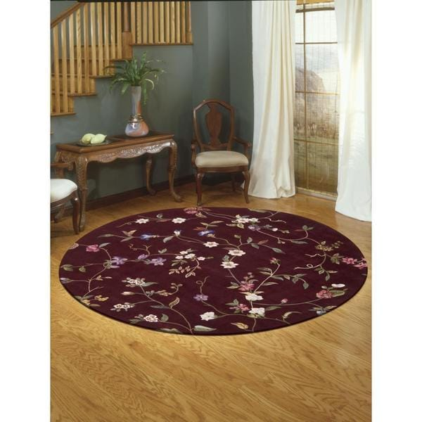 Rug Squared Beaumont Ruby Rug - 8' Round