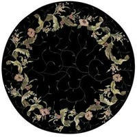 Rug Squared Beaumont Black Rug - 8' Round