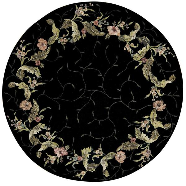 Shop Rug Squared Beaumont Black Rug 8 Round Free
