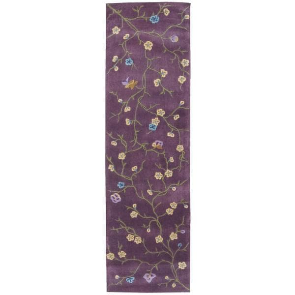 """Rug Squared Beaumont Lavender Rug (2'3 x 8') - 2'3"""" x 8' Runner"""