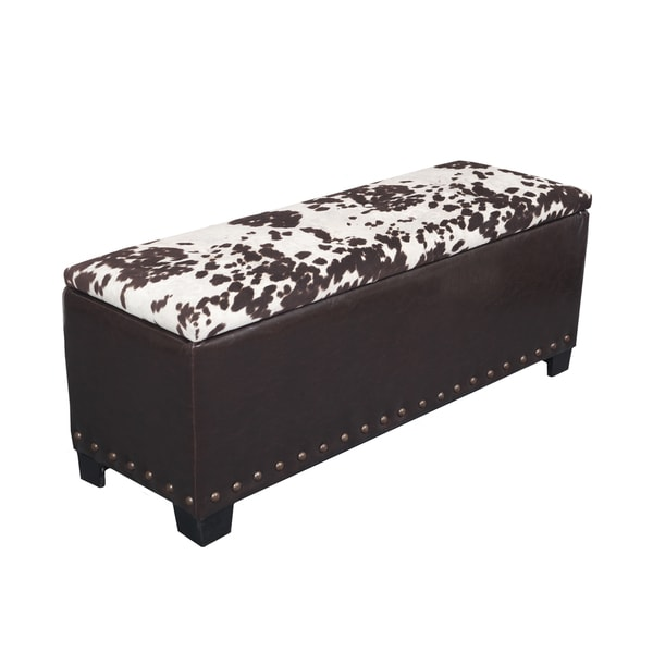 Cowhide Nail Head Accented Gun Concealment Bench