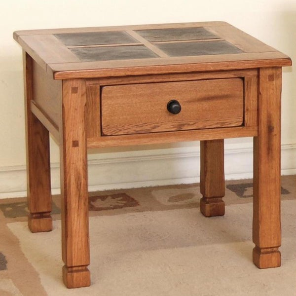 Shop Sedona Slate Top End Table Free Shipping Today