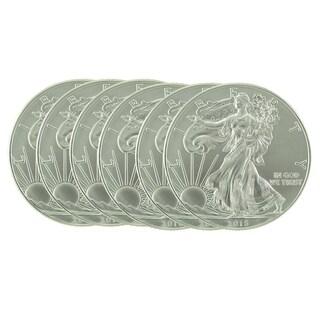 US Treasury 1-ounce 2016 Silver American Eagle Coin (Set of 6)