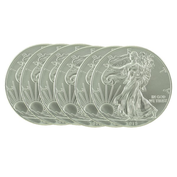 US Treasury 1-ounce 2016 Silver American Eagle Coin (Set of 6)
