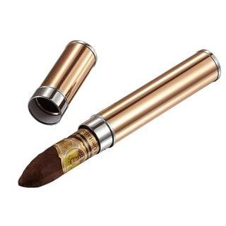 Visol Teman Rose Gold Finish Cigar Tube