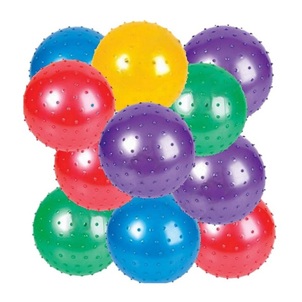 5 inch Knobby Balls - 12 Pack 4E's Novelty
