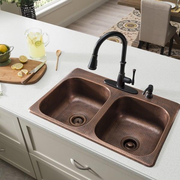 Hammered Copper Undermount Kitchen Sink