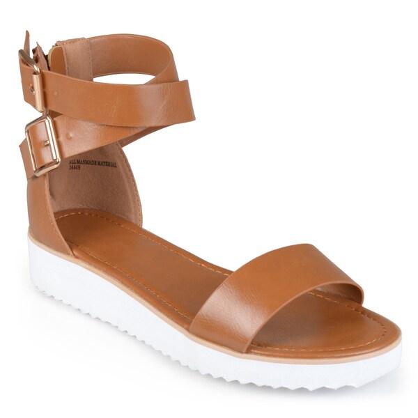 1572dd24e572 Shop Journee Collection Women s  Zinnia  Platform Gladiator Sandals ...