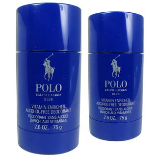 Ralph Lauren Polo Blue 2.6-ounce Alcohol-Free Deodorant (Pack of 2)