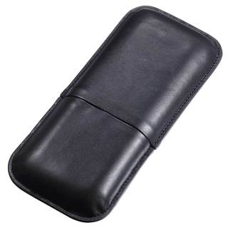Visol Honor Black Leatherette Cigar Case (Three cigars)