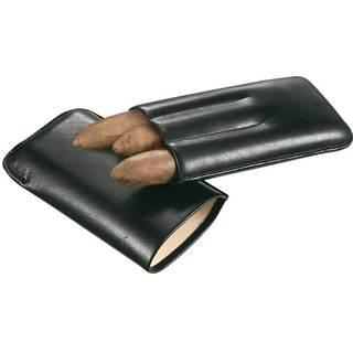 Visol Trek Black Leather Cigar Case