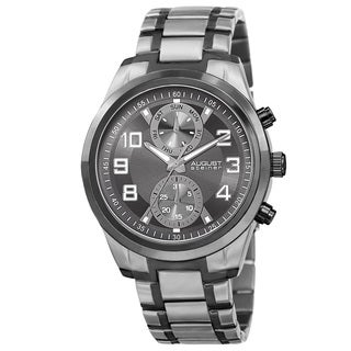 August Steiner Men's Quartz Multifunction Stainless Steel Two-Tone Bracelet Watch