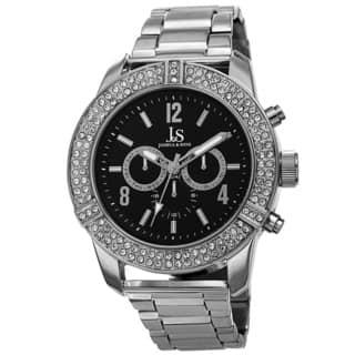 Joshua & Sons Men's Swiss Quartz Multifunction Crystal Bezel Bracelet Watch with FREE GIFT (Option: Silver) https://ak1.ostkcdn.com/images/products/10099695/P17240962.jpg?impolicy=medium