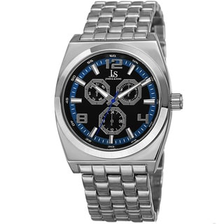 Joshua & Sons Men's Quartz Multifunction Alloy Blue Bracelet Watch