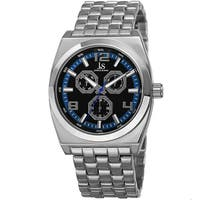 Joshua & Sons Men's Quartz Multifunction Alloy Blue Bracelet Watch
