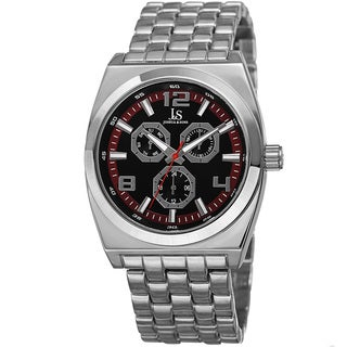 Joshua & Sons Men's Quartz Multifunction Alloy Red Bracelet Watch