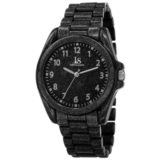 Joshua & Sons Men's Quartz Easy to Read Markers Spray Black Bracelet Watch