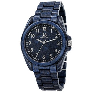 Joshua & Sons Men's Quartz Easy to Read Markers Spray Blue Bracelet Watch with FREE GIFT https://ak1.ostkcdn.com/images/products/10099719/P17240984.jpg?impolicy=medium