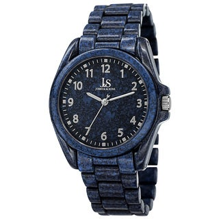 Joshua & Sons Men's Quartz Easy to Read Markers Spray Blue Bracelet Watch