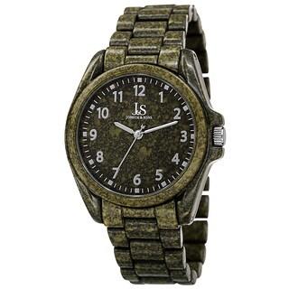 Joshua & Sons Men's Quartz Easy to Read Markers Spray Green Bracelet Watch