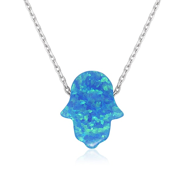 with hamsa shop silver wanelo on opal hand necklace delicate