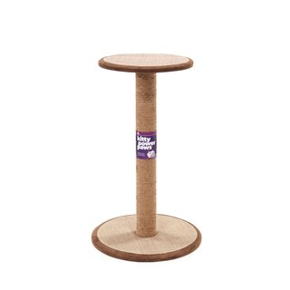 Prevue Pet Products Kitty Power Paws Tall Round Cat Scratching Post with Platform