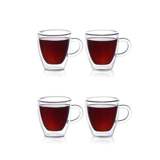 Epare 2 oz. Double-Wall Espresso Cups (Set of 4)