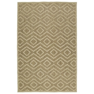 Indoor/ Outdoor Luka Khaki Diamond Rug (7'10 x 10'8)