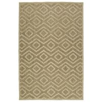 Indoor/ Outdoor Luka Khaki Diamond Rug - 7'10 x 10'8