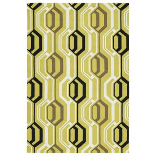 Indoor/ Outdoor Handmade Getaway Gold 3D Rug (9'0 x 12'0)