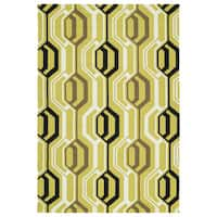 Indoor/ Outdoor Handmade Getaway Gold 3D Rug - 9' x 12'