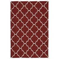 Indoor/ Outdoor Handmade Getaway Red Tiles Rug - 9' x 12'