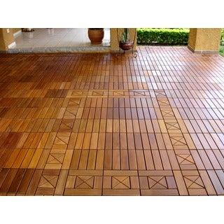 EcoDeck 10 sq ft Ipe Wood Flooring and Decking Tiles (Pack of 10)