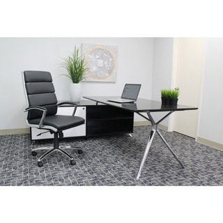 Boss CaressoftPlus Chrome Finish Executive Chair