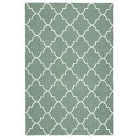 Indoor/ Outdoor Handmade Getaway Mint Tiles Rug - 5' x 7'6""