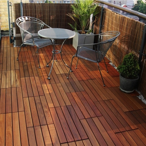 Shop Decking Tiles 12 X 24 Inch Wood Flooring Tiles Pack