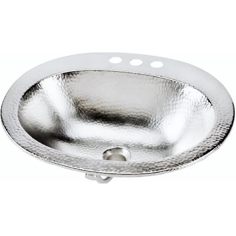 "Sinkology Dalton Drop-In 20"" Handcrafted Bathroom Sink - 20 x 17 x 5.5"