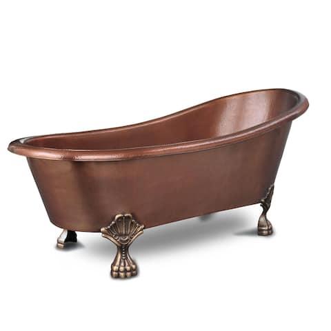 Sinkology Heisenberg 5.5-foot Handmade Solid Copper Claw Foot Tub