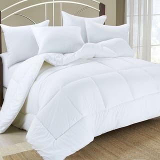All Season Double Fill Premier Microfiber Down Alternative Comforter Duvet Insert 4 Options Available